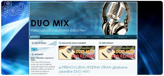 Glasbena zasedba DUO MIX